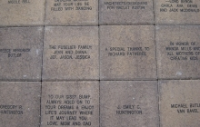 12x12 engraved concrete pavers