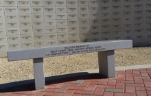 Veterans Memorial Wall and Bench